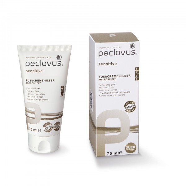 peclavus® sensitive Fußcreme silber, 75 ml